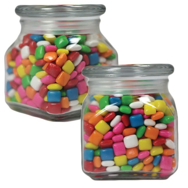 Small Glass Apothecary Candy Jar with Chicle Chewing Gum