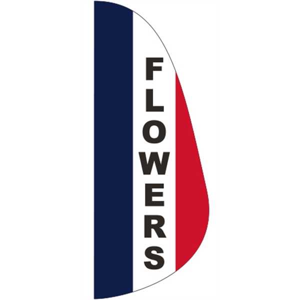 3' x 8' Message Feather Flag - Flowers