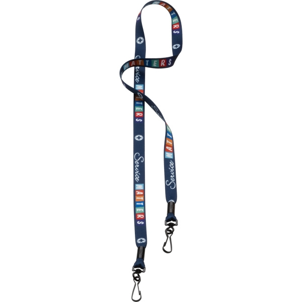 "1/2"" Dye-Sublimated Double Swivel Snap Hook Lanyard"