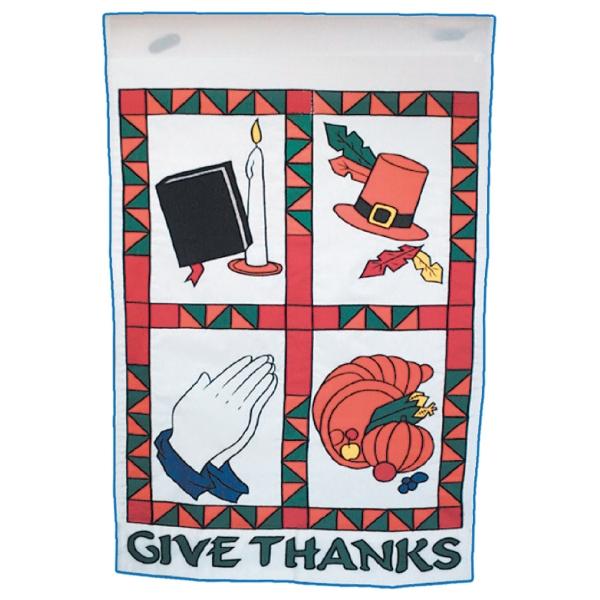 Give Thanks stock design flag