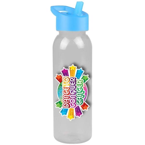24 oz Tritan (TM) Trekker Bottle - 24 oz Premium Tritan (TM) Bottle with flip straw lid.