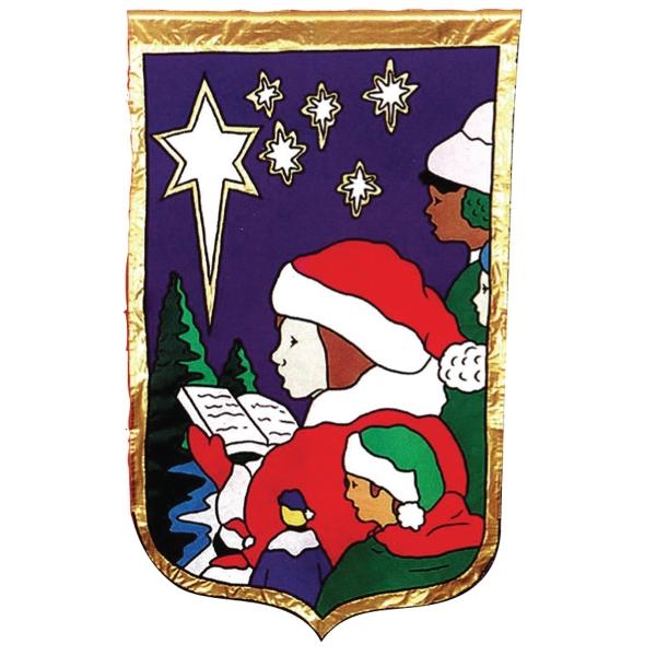 Christmas stock design flag