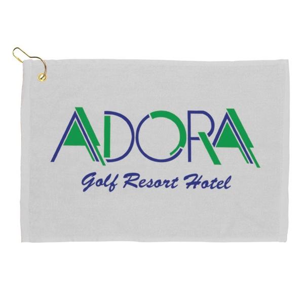 "18"" Golf Towel - White - Silkscreened Golf Towel."