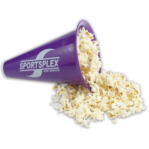 Megaphone with Imprinted Popcorn Cap - Megaphone with printed popcorn cap.