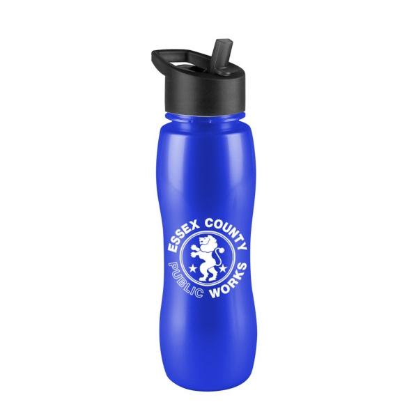 The Slim Grip-M 25 oz Tritan (TM) Bottle - 25 oz Tritan (TM) Bottle with flip straw lid.