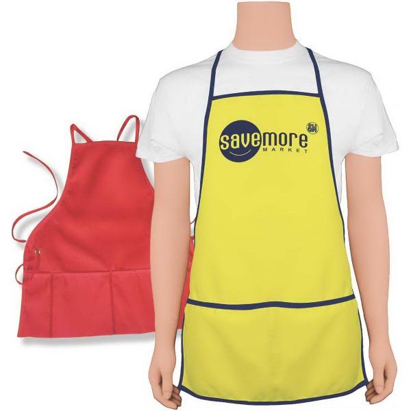 "Narrow 22 1/2"" x 23 1/2"" Grommet-style apron"