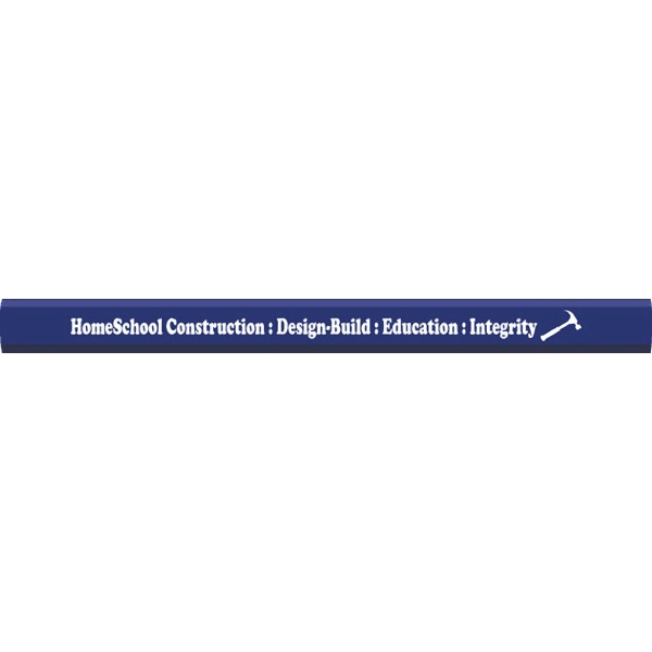 Blue Carpenter Pencils - 2 Sided Imprint