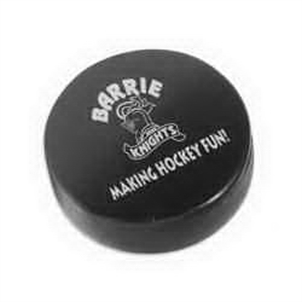 Hockey Puck Shaped Stress Reliever