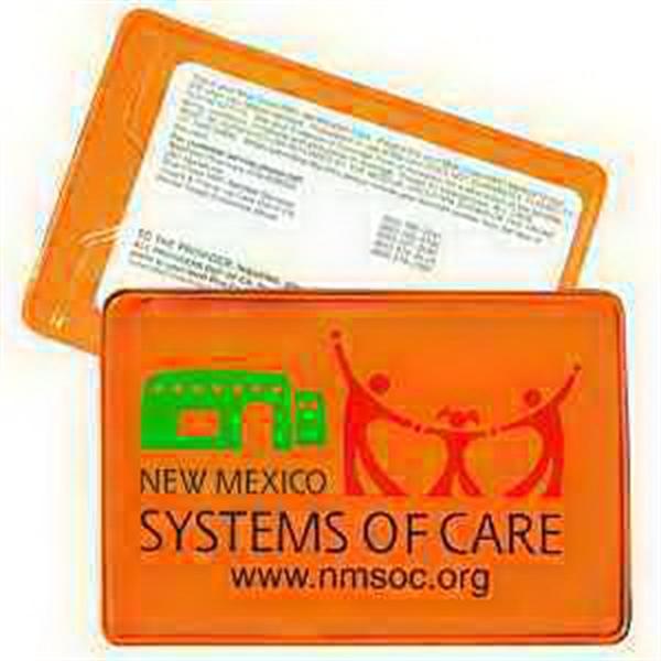 Thumb Notch Card Holder - Translucent