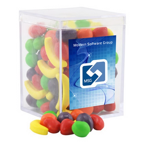 Runts Candy in a Clear Acrylic Square Box
