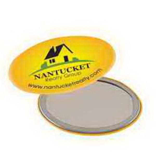 Oval Button Mirror