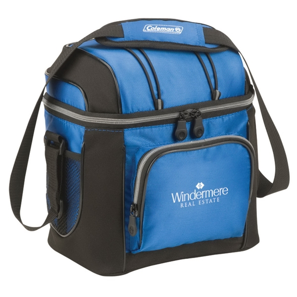 Coleman® 9-Can Soft-Sided Cooler with Removable Liner  - 9-can soft sided cooler with front zippered pocket.