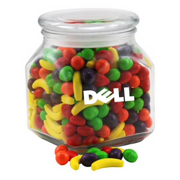 Runts Candy in a Large Glass Jar with Lid
