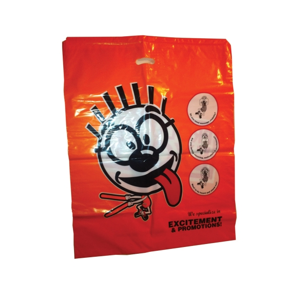 "Merchandise Bags 20"" x 22"" x 4"" with die cut slot as shown."