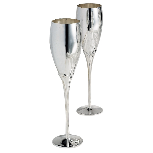 Silver Plated Flute Champagne