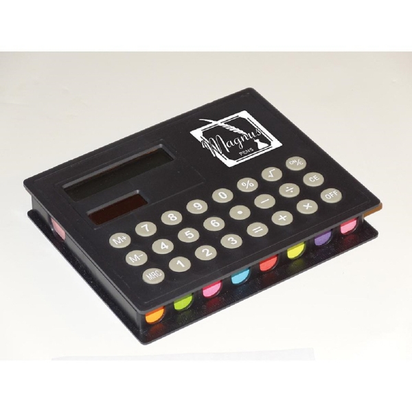 Calculator with Sticky Note Pads & Flags