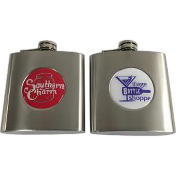 Brushed Silver Flask - 6 OZ
