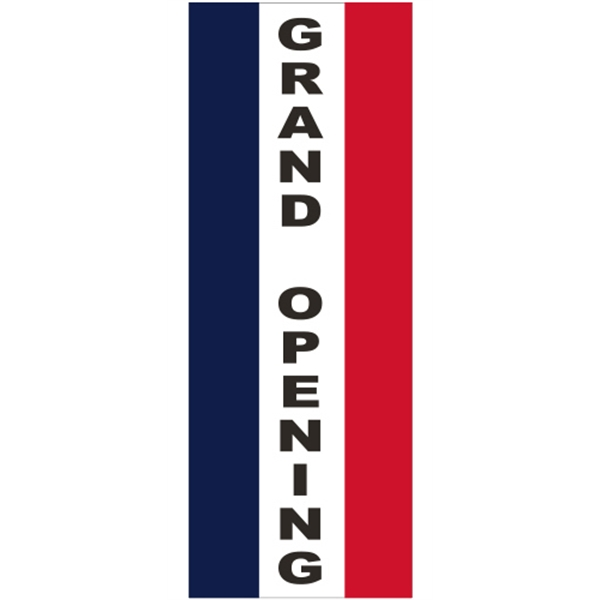 3' x 8' Message Square Flag - Grand Opening