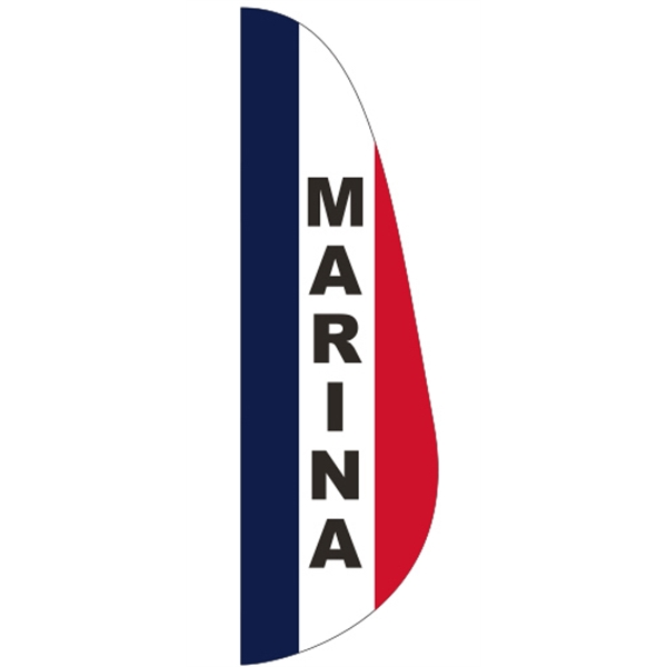 3' x 10' Message Feather Flag - Marina