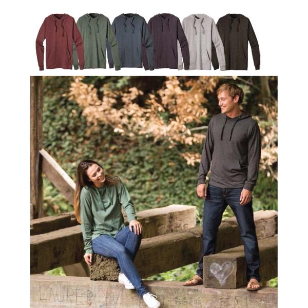 Unisex Heathered Jersey Pullover Hoody