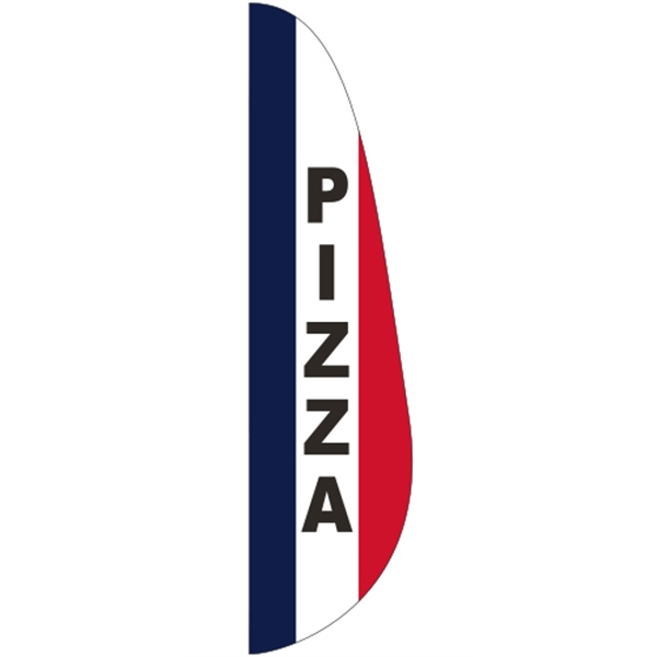 3' x 15' Message Feather Flag - Pizza