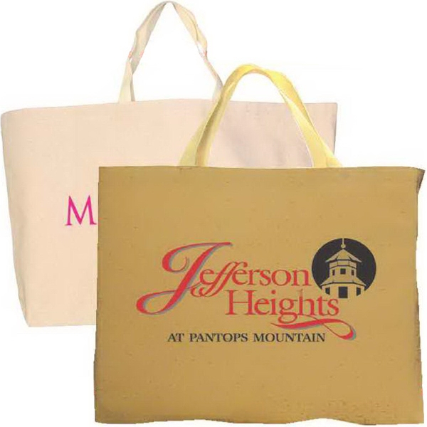Wide jumbo tote bag