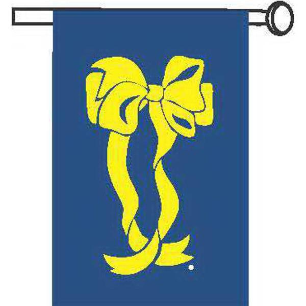 Yellow ribbon garden size flag