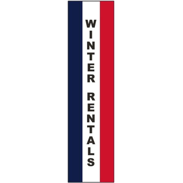 3' x 15' Message Square Flag - Winter Re