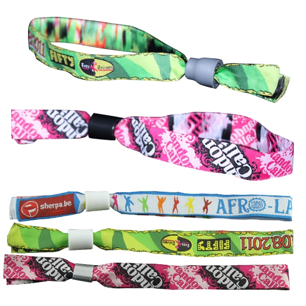 Custom Logo Woven Wristand/Fabric Wristband