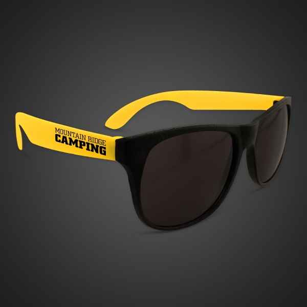 Neon Look Sunglasses With Yellow Arms
