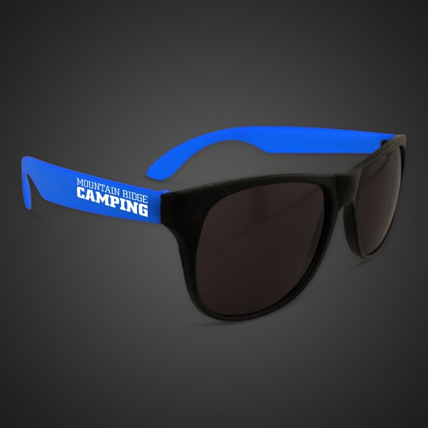 Neon Look Sunglasses with Blue Arms