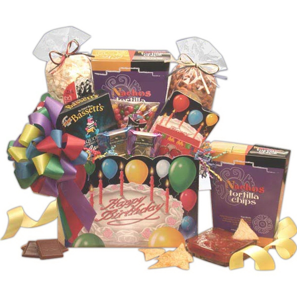 Happy Birthday Gift Box Gift Basket-Md