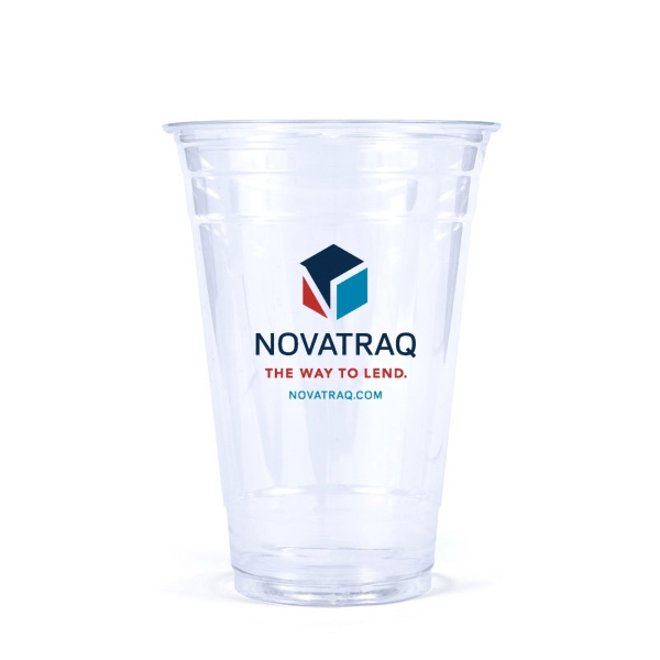 20 oz. Soft-Sided Clear PET Plastic Disposable Cup