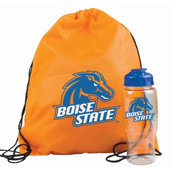 Drawstring Backpack in a Bottle - Drawstring backpack in a bottle combo kit.