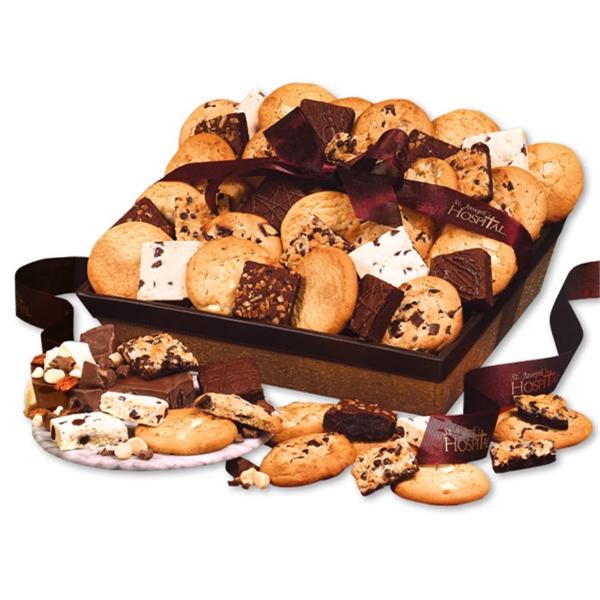 Three-Dozen Home-Style Cookie & Brownie Basket - basket filled with three-dozen cookies and brownies