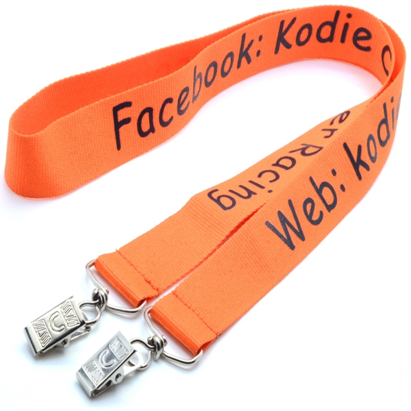 "1"" Double Ended Polyester Lanyard"