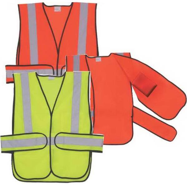 Orange Mesh Side Strap Safety Vest
