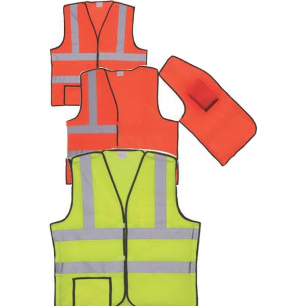Yellow Solid Break-Away Safety Vest