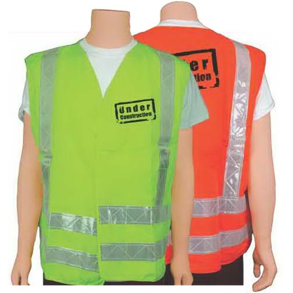 ANSI class II lime/white safety vest