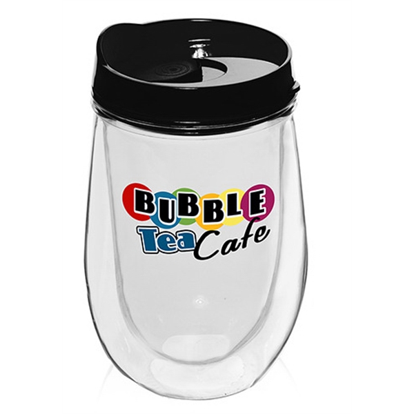 15oz Double Wall Acrylic Tumbler w/ Black Top