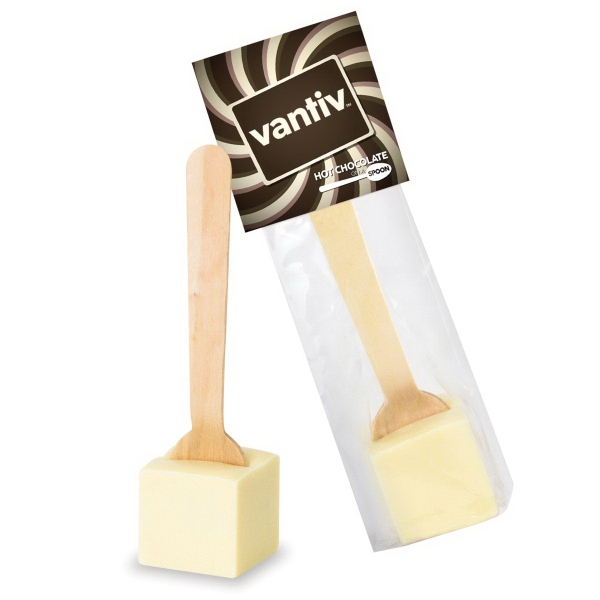 Hot Chocolate on a Spoon in Header Bag - White Chocolate