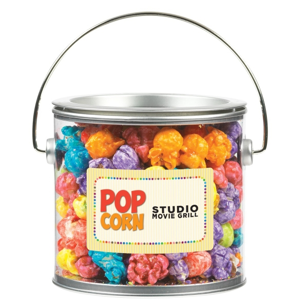 Large Paint Can With Colored Popcorn