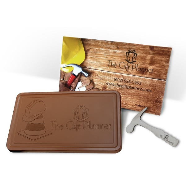 2 lb Custom Logo Chocolate Bar in Milk or Dark