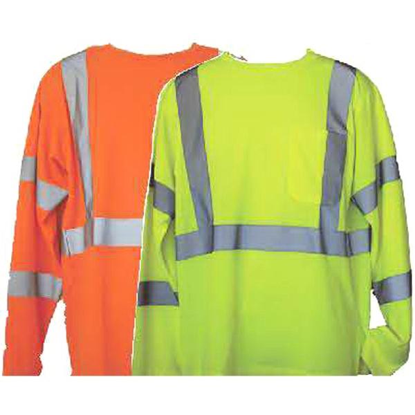 Orange 2XL/3XL Long Sleeve Hi-Viz Safety T-Shirt