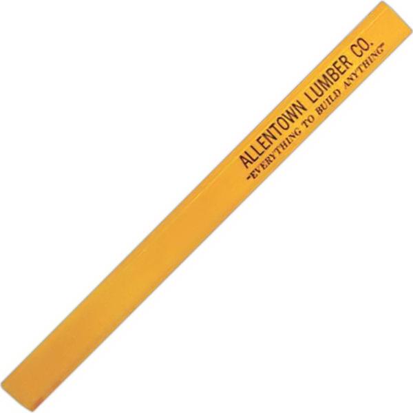 Flat carpenter pencil with no eraser