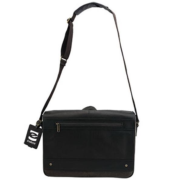 Lyon Leather Laptop Messenger Bag