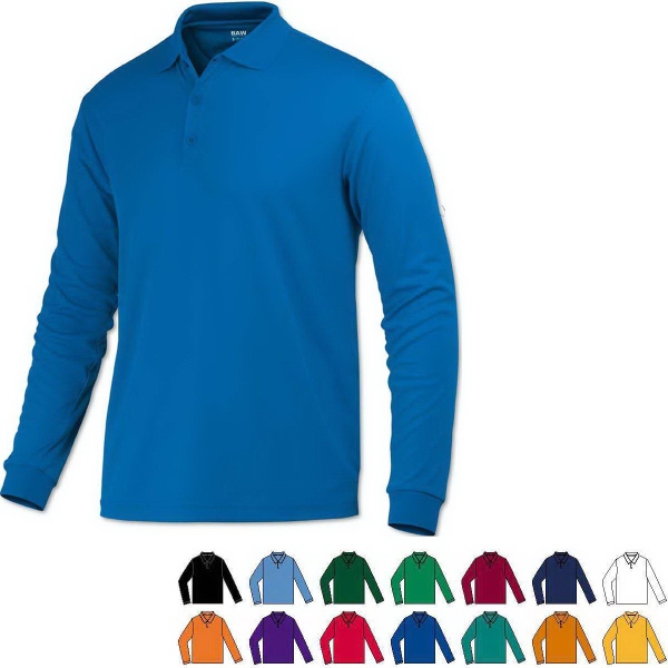 Adult Eco Cool-Tek™ Long Sleeve Polo Shirt