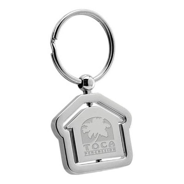 House Swivel Metal Keychain