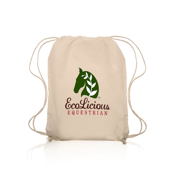 4oz Cotton Drawstring Backpack