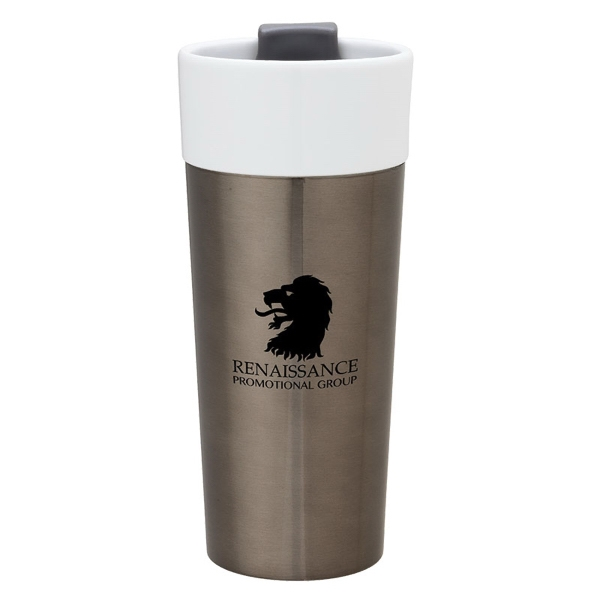 16 oz. Ceramic & Stainless Steel Tumbler